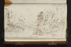 ?Sketch for 'Dido Building Carthage' 1805 by Joseph Mallord William Turner 1775-1851