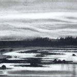 Emily Nelligan Charcoal Landscape, Pastimes for a Lifetime