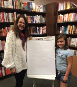 Miss Avery Harrison assists Linda Wehrli, Barnes & Noble Mini Maker Faire, Burbank