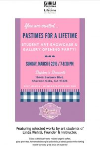 Pastimes for a Lifetime Gallery Opening Party Invitation, Daphne's Desserts