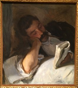 Man Reading, circa 1904-08 Oil on canvas John Singer Sargent