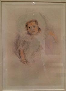 Margot Wearing a Bonnet circa 1902 Color drypoint etching Mary Stevenson Cassatt
