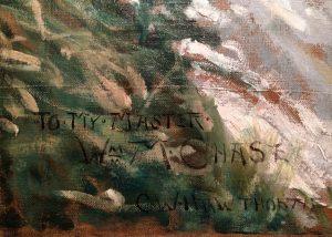 Charles Webster Hawthorne's Dedication to William Merritt Chase