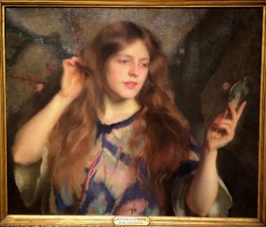 Girl with a Hand Mirror, William McGregor Paxton