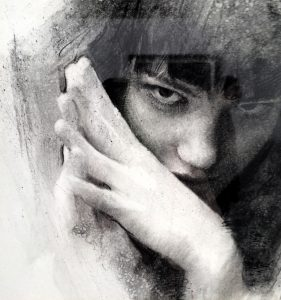 Casey Baugh, Arcadia Contemporary, Charcoal