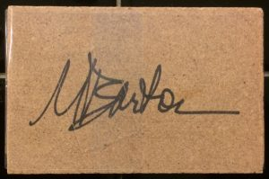 Mary T Barton signature