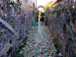 Mosaic Tile House Side Yard