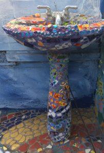Mosaic Tile House Sink
