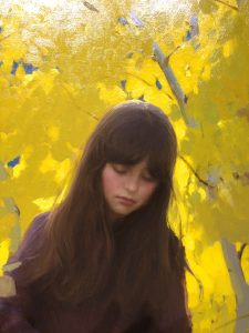 """Fall Aspens"" oil by Jeremy Lipking"