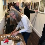 Linda Wehrli at Daphne's Desserts Student Art Installation