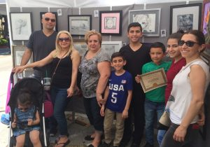 Families of Pastimes for a Lifetime Students at the Downtown Burbank showcase