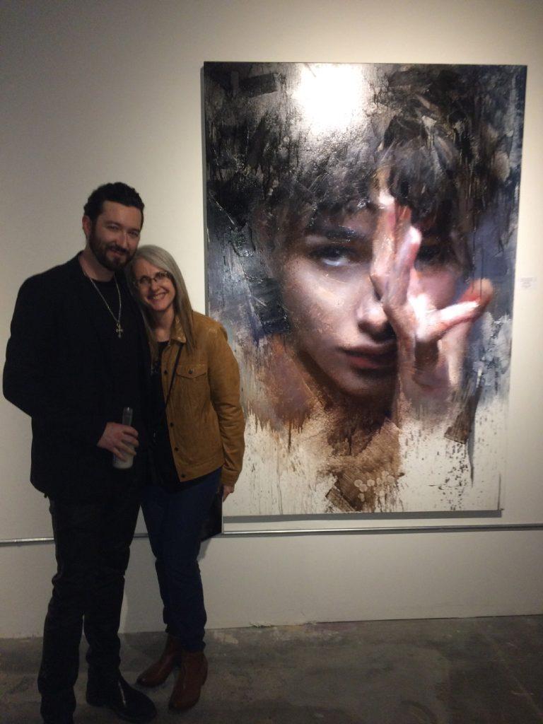 Casey Baugh with Linda Wehrli
