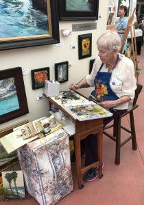Laguna Beach Art-A-Fair Artist Painting