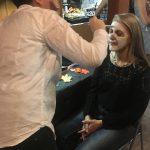 Sophia Paints Linda Wehrli's face