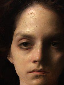 Linda Wehrli's close-up of Jordan Sokol's Oil Painting, Crimson
