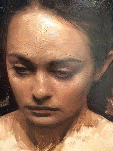 Linda Wehrli's close-up of Jordan Sokol's Oil Painting, Mazi1