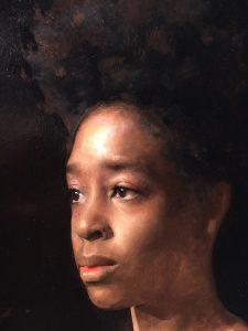 Linda Wehrli's close-up of Jordan Sokol's oil painting, Ruby