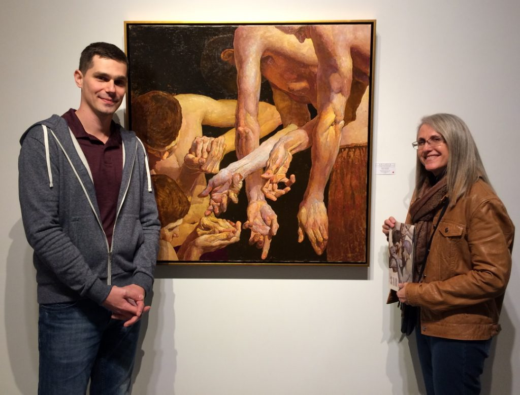 Linda Wehrli with artist Denis Sarazhin