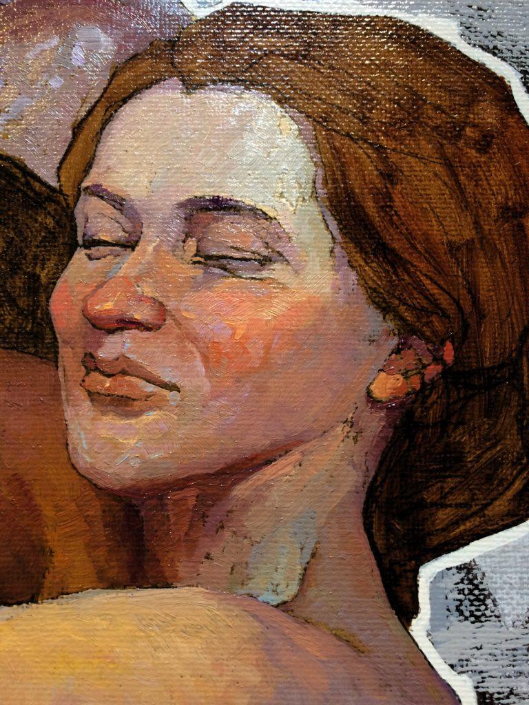 """""""Pantomime No. 23"""" Portrait close-up, Denis Sarazhin"""