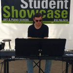 Pastimes for a Lifetime piano student Cameron C performs at the Downtown Burbank Arts Festival