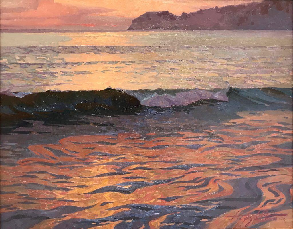 """Alexey Steele's """"Glare in a Haze"""", Oil on linen board"""