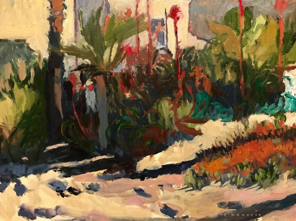"Chuck Kovacic, ""The Gilded Path"" Oil on canvas panel"