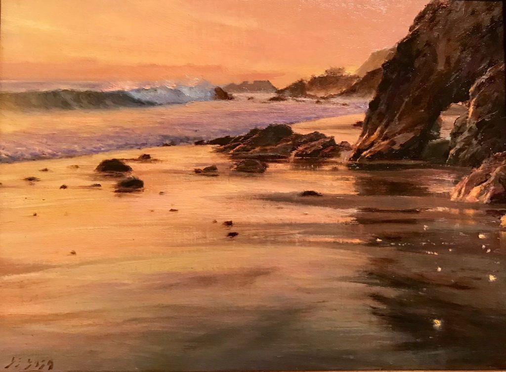 "D. Eleinne Basa, ""Sand Patterns"" Oil"