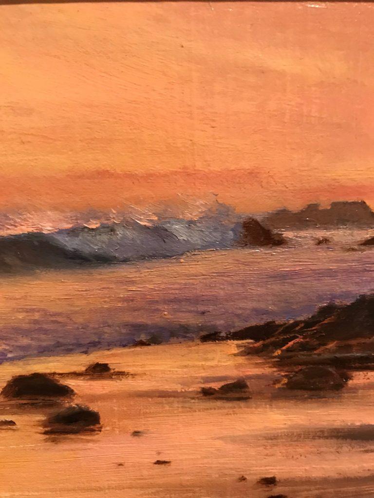 "D. Eleinne Basa, ""Sand Patterns"" Oil close-up"