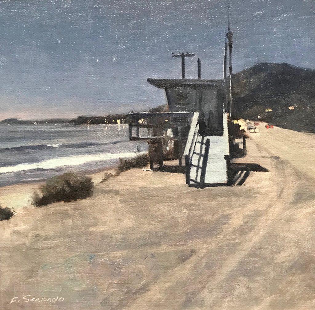 """Frank M. Serrano, """"Moonlight and Shadows"""" Oil on linen"""