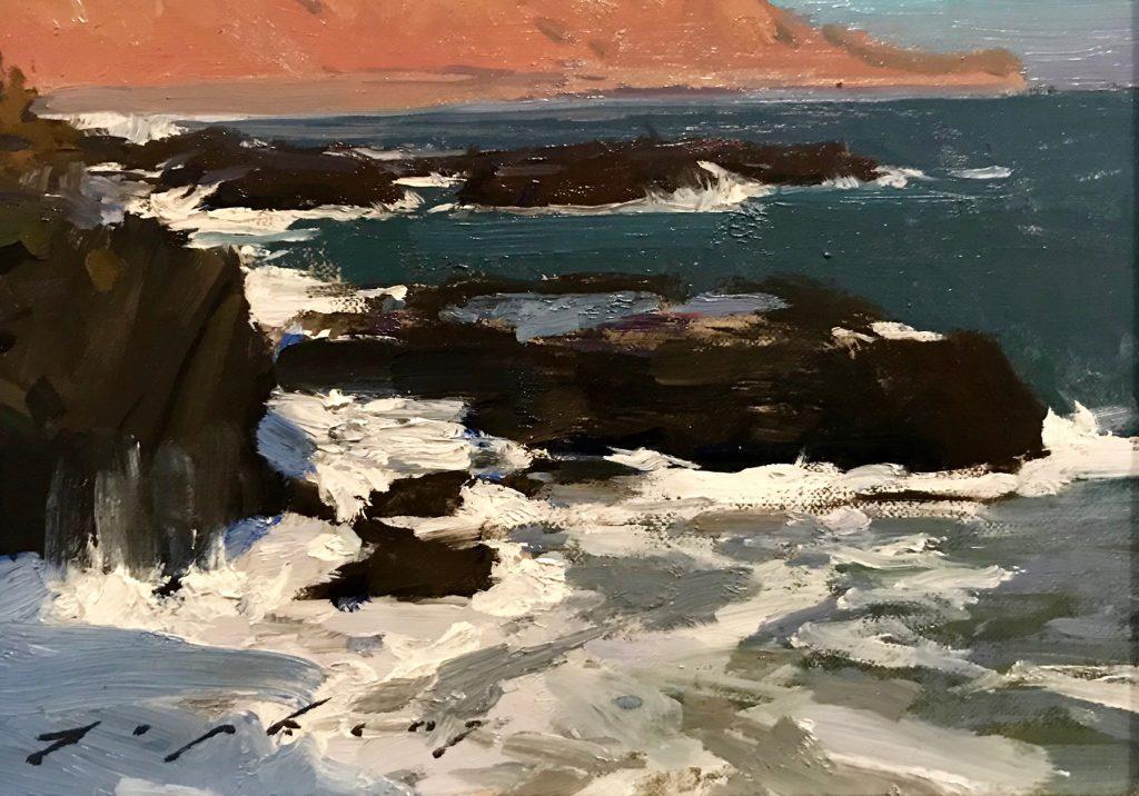 "Jeremy Lipking, ""Malibu Tide Pools"" Oil on linen"