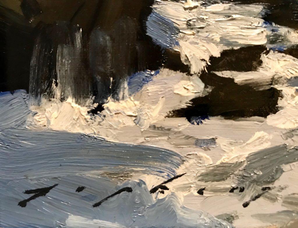 "Jeremy Lipking, ""Malibu Tide Pools"" Oil on linen close-up"