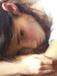 "Alex Venezia, ""Melancholia"", Oil on Panel"