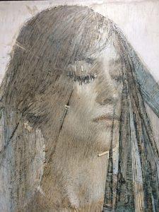 """Daniel Bilmes, """"Queen of Hearts"""", Oil on Panel"""