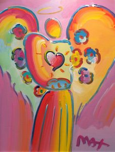 Peter Max Angel, Multi Background at Park West Onboard Gallery