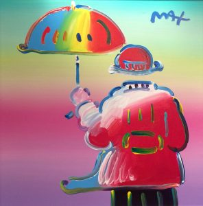 Peter Max Umbrella Man, Park West On Board Art Auction