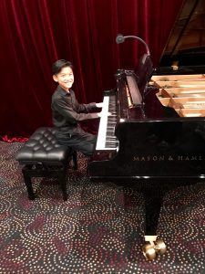 Pastimes for a Lifetime piano student, Ascher C.