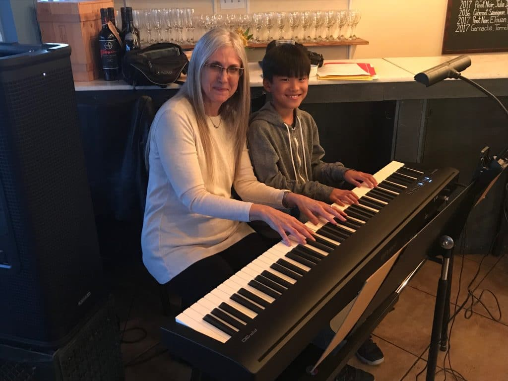 Linda Wehrli with her piano student, Ascher C.