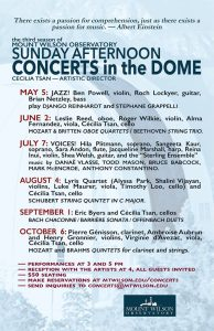 2019 Sunday Concerts at the Dome