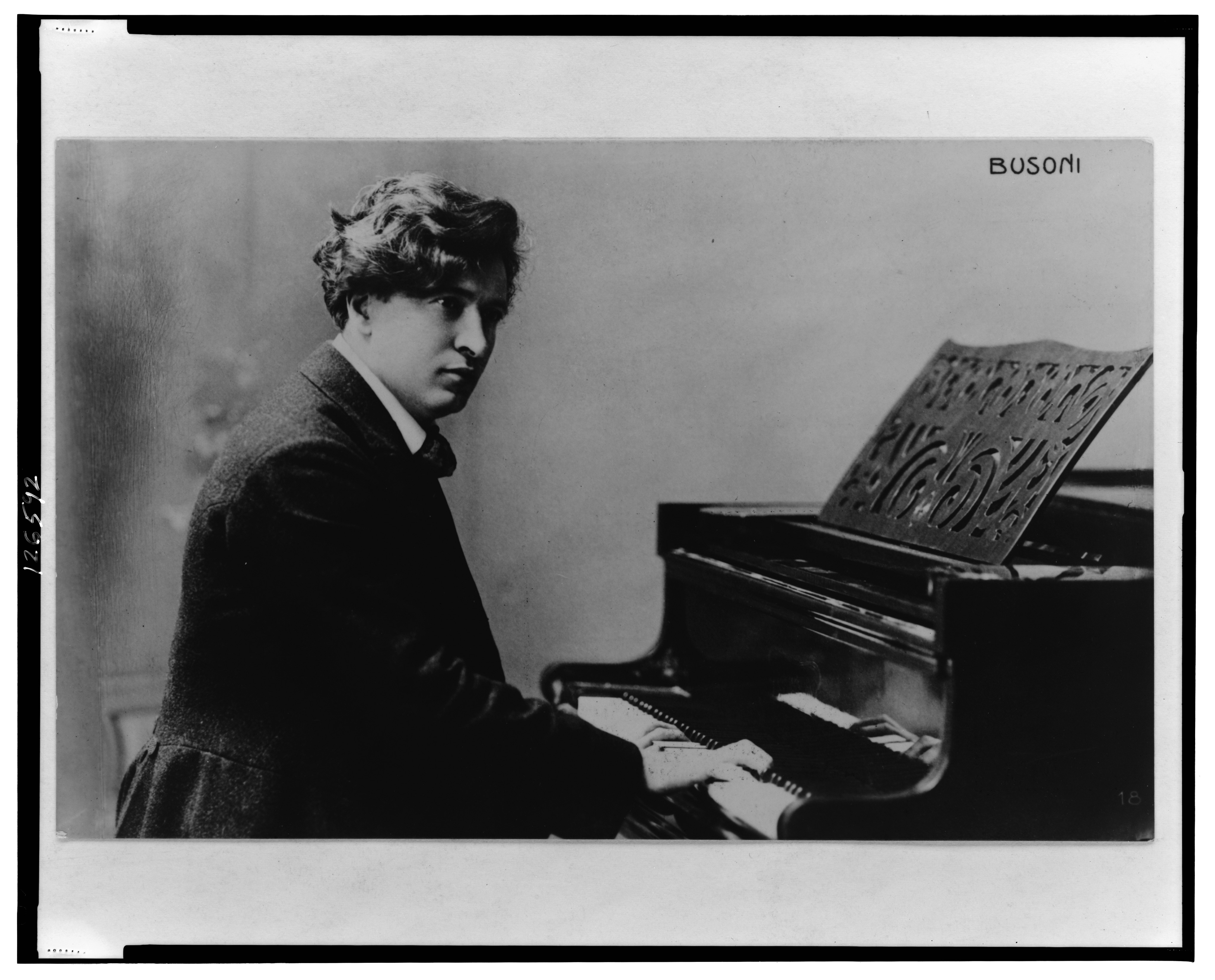 Ferruccio Busoni at the piano