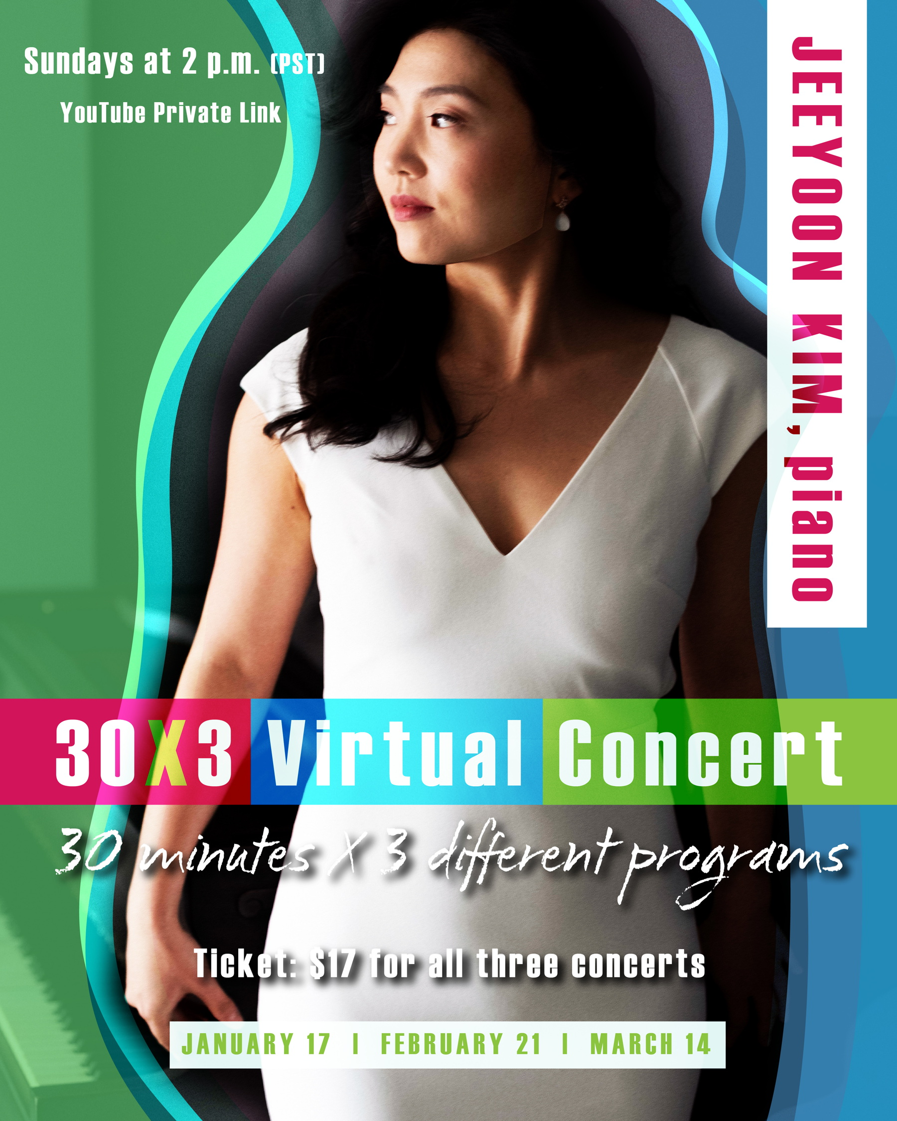 Jeeyoon Kim discussed her 30x3 Virtual Concert with Pastimes for a Lifetime