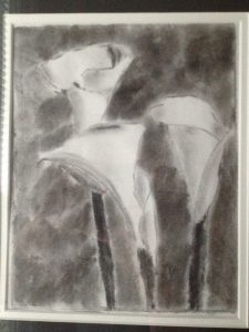 Charcoal Calla Lillies by Zubin Grogg