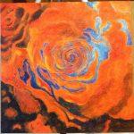 Acrylic Simon Bull Rose study by Maya Krueger