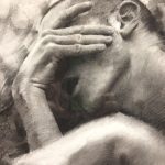 """CASEY BAUGH - """"Days of Longing"""" - Charcoal on Paper - 11 x 16 inches"""