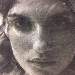 """CASEY BAUGH - """"Spring"""" - Charcoal on Paper - 14 x 11 inches"""