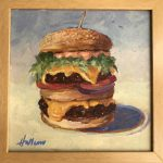 Laguna Beach Sawdust Fest Burger Painting Hallinan