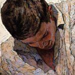 """Dancing Men No. 4"" Head Close-up, Denis Sarazhin"
