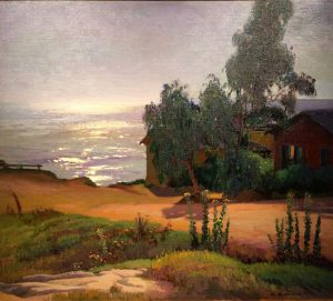 "Arthur Rider ""Oak Street (Laguna Beach)"" 1928 Oil"