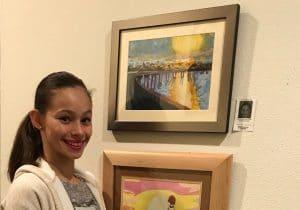 Erika B Bridge Acrylics on Canvas Paper