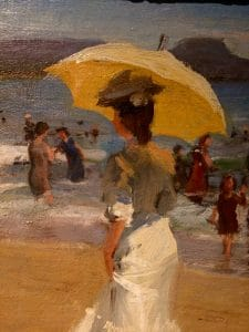 "Louis Betts ""Mid-Winter, Coronado Beach"" 1907 Oil"