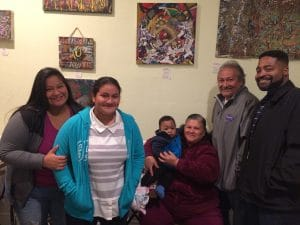 Families at the Gallery Opening